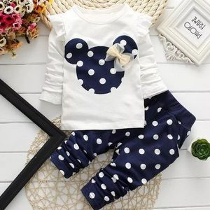 🐭 Baby Girls Minnie Mouse Matching Set 🐭